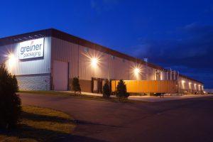 Robert K. Mericle Industrial Building Exterior at night