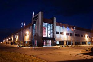 Robert K. Mericle Industrial building at night